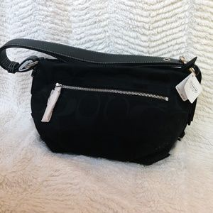 *NWT* Authentic Black Coach small signature duffle